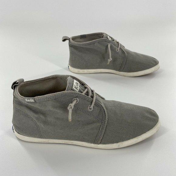 Keds Canvas Lace Up Tennis Shoes Gray Size 7.5
